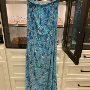 Lilly Pulitzer mermaid print maxi dress